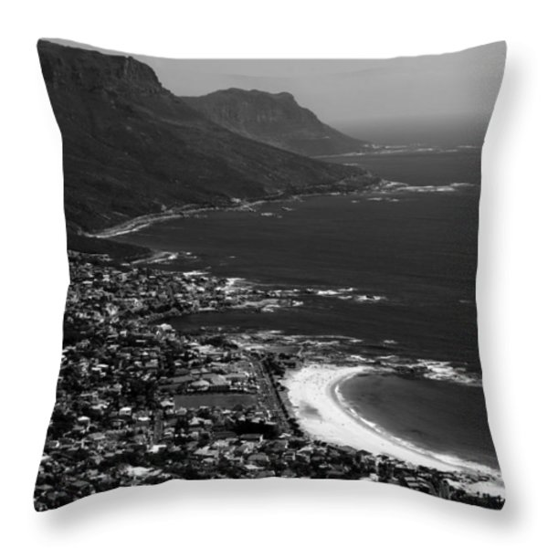 Camps Bay Cape Town Throw Pillow by Aidan Moran