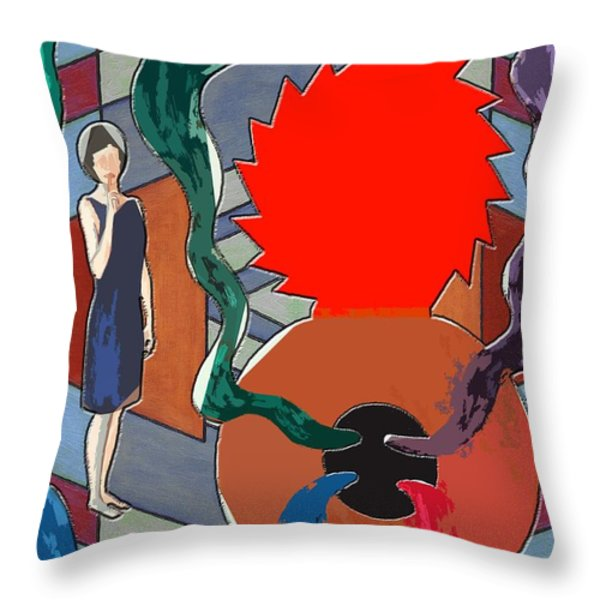 Can Of Worms Throw Pillow by Patrick J Murphy