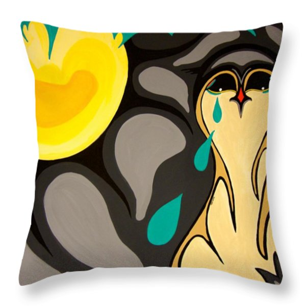 Can You Hear Me Throw Pillow by Krystle Retieffe