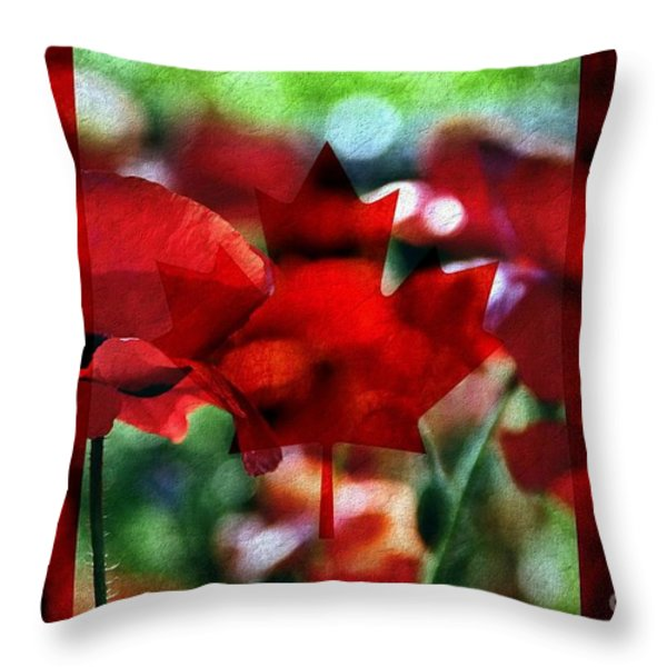 Canadian Eh Throw Pillow by Andrea Kollo