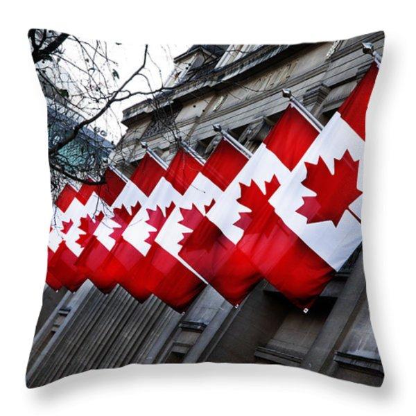 Canadian Embassy London Throw Pillow by Mark Rogan