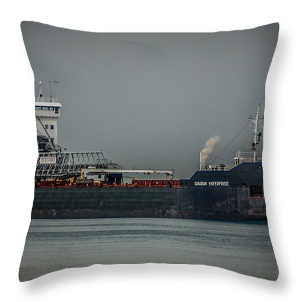 Canadian Enterprise Throw Pillow by Ronald Grogan