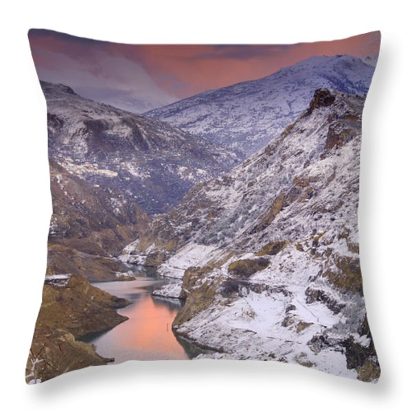 Canales Throw Pillow by Guido Montanes Castillo