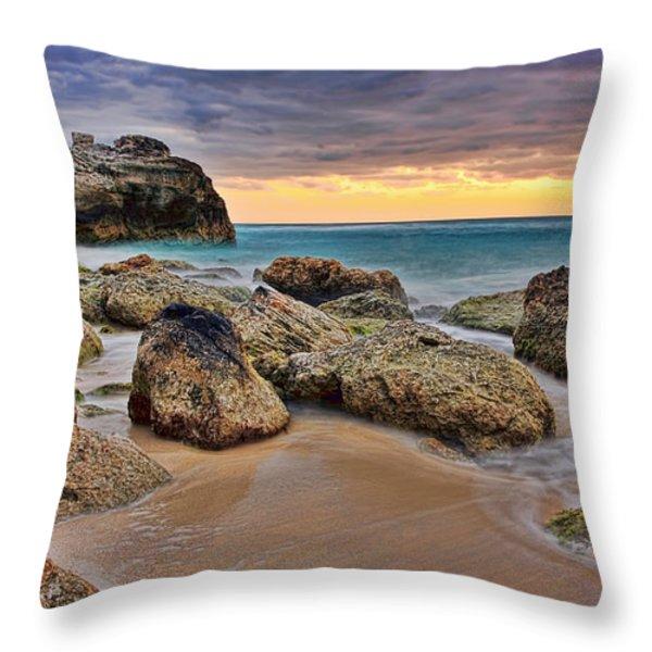 Cancun Coastal Sunrise Throw Pillow by Marcia Colelli