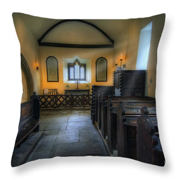 Candle Church Throw Pillow by Ian Mitchell