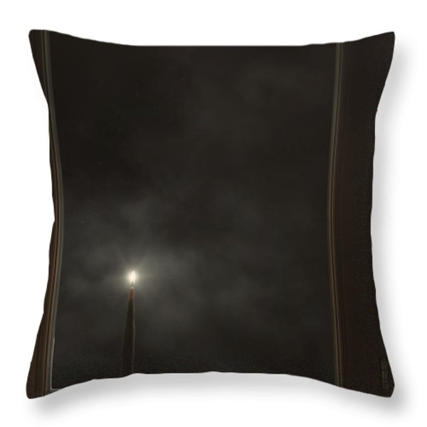 Candle Light Throw Pillow by Joana Kruse