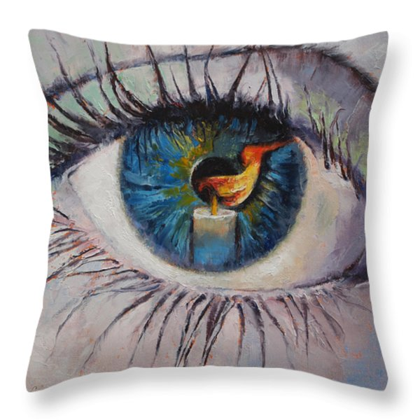 Candle Throw Pillow by Michael Creese