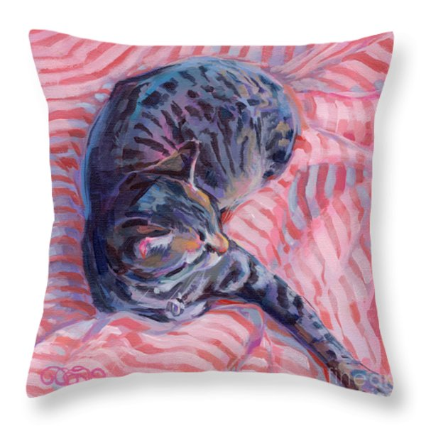 Candy Cane Throw Pillow by Kimberly Santini