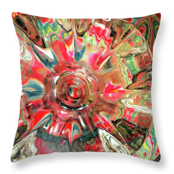 Candy Throw Pillow by Donna Blackhall