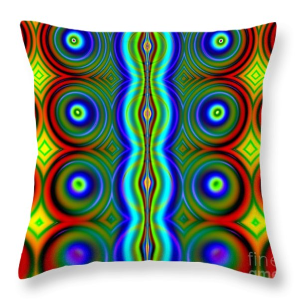Candy Dots Fractal Throw Pillow by Rose Santuci-Sofranko