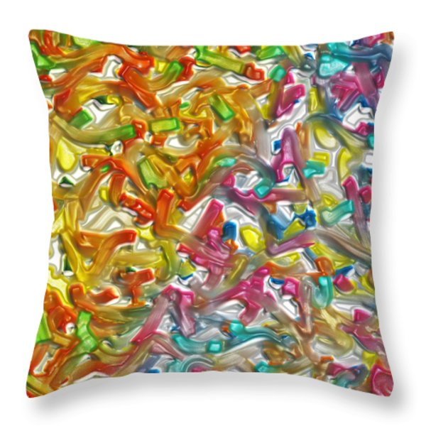 Candy Factory Throw Pillow by Alec Drake