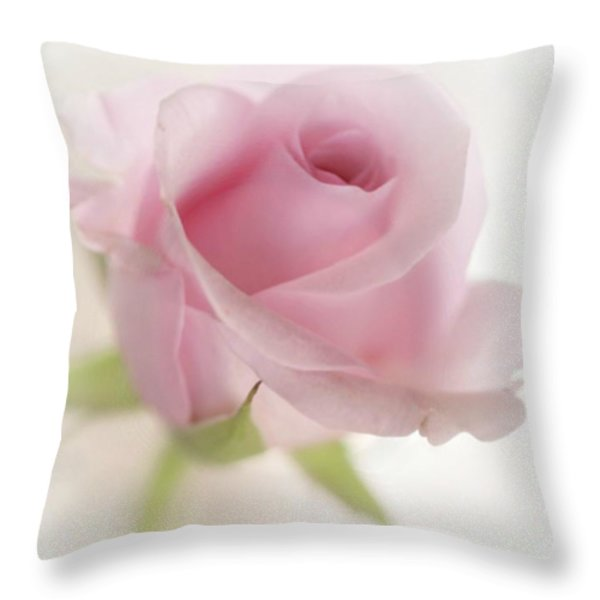 Candy Floss Throw Pillow by Morag Bates