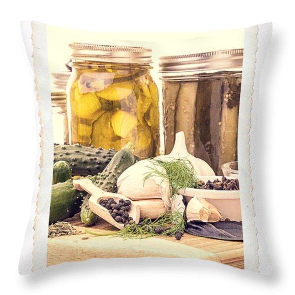 Canning Kitchen Art Throw Pillow by Edward Fielding