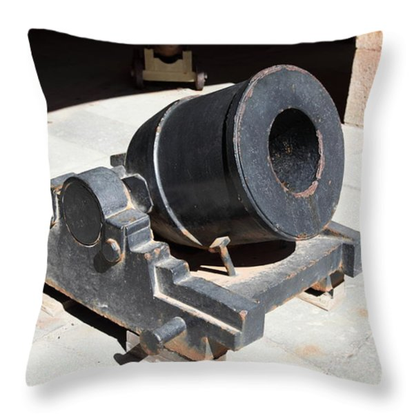 Cannon At San Francisco Fort Point 5d21489 Throw Pillow by Wingsdomain Art and Photography