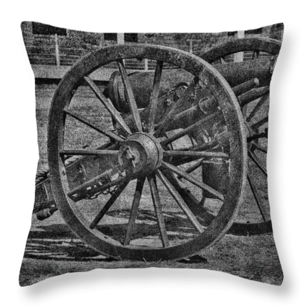 Cannon Throw Pillow by Todd and candice Dailey