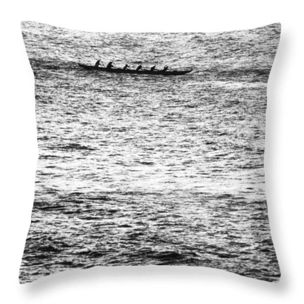 Canoe Glitter Throw Pillow by Sean Davey