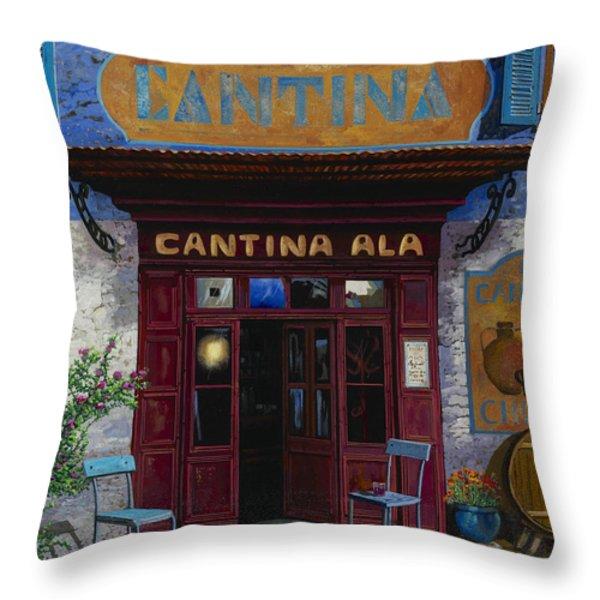 cantina Ala Throw Pillow by Guido Borelli