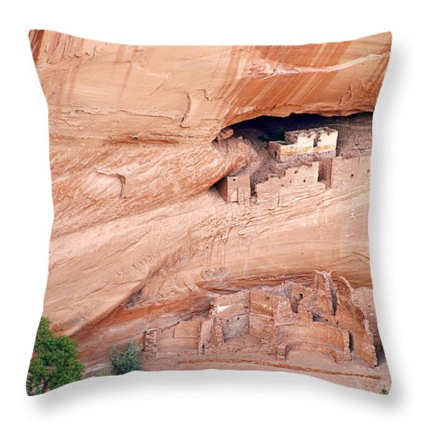 Canyon de Chelly White House Ruins Throw Pillow by Christine Till