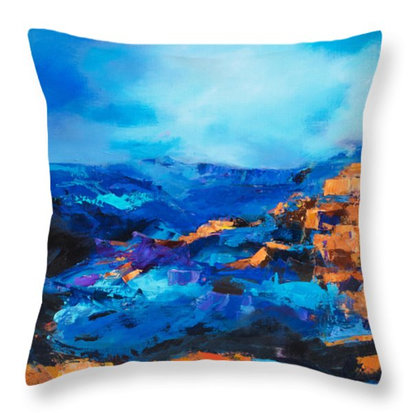 Canyon Song Throw Pillow by Elise Palmigiani