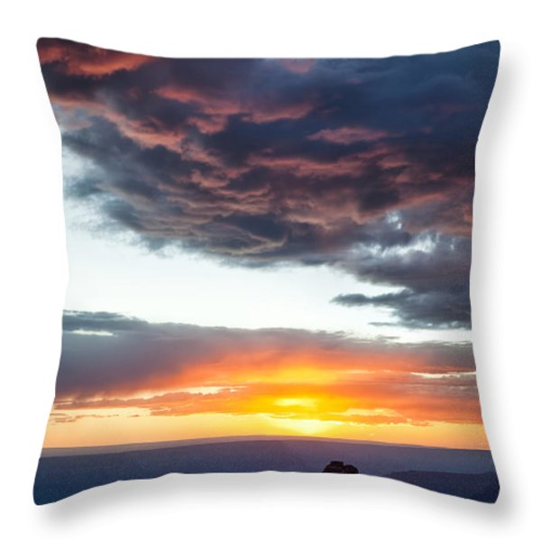 Canyon Sunset Throw Pillow by Dave Bowman
