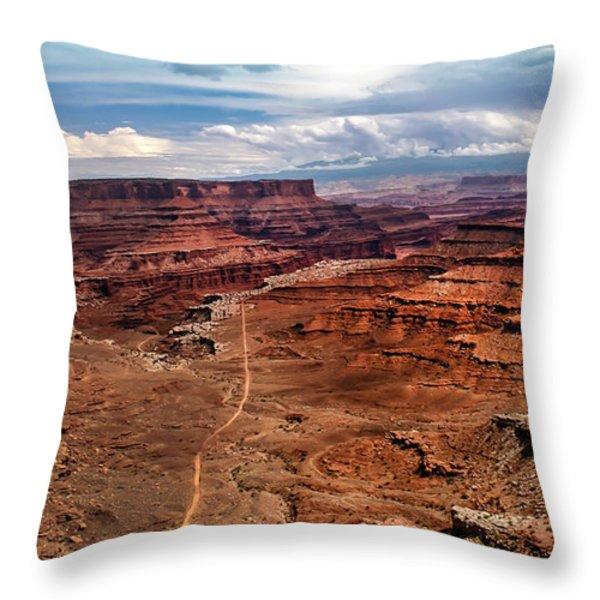 Canyonland Throw Pillow by Robert Bales