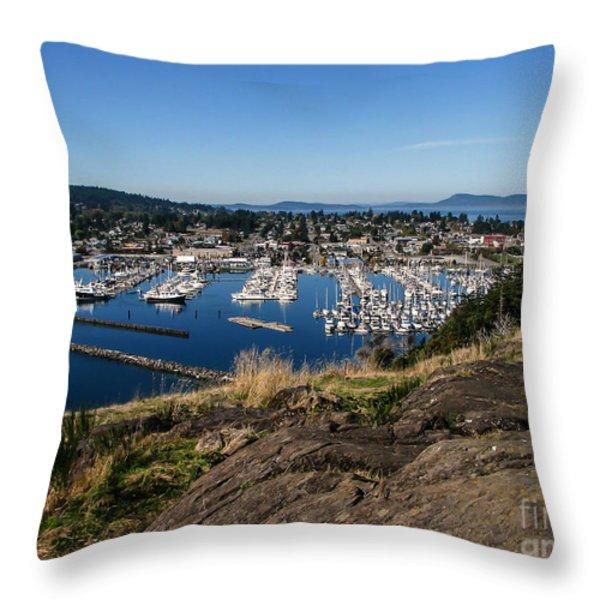 Cap  Sante Marina Throw Pillow by Robert Bales