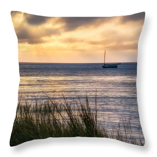 Cape Cod Bay Square Throw Pillow by Bill  Wakeley