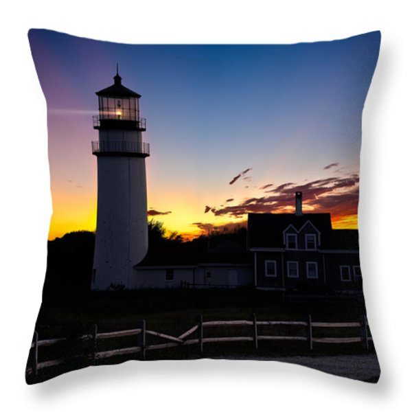 Cape Cod Light Throw Pillow by Bill  Wakeley