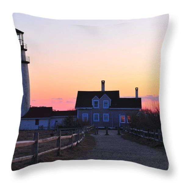 Cape Cod Light Throw Pillow by Catherine Reusch  Daley