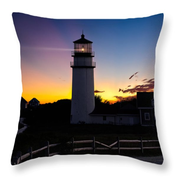 Cape Cod Light Square Throw Pillow by Bill  Wakeley