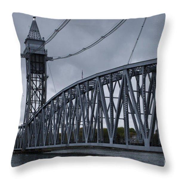 Cape Cod Railroad Bridge No. 1 Throw Pillow by David Gordon