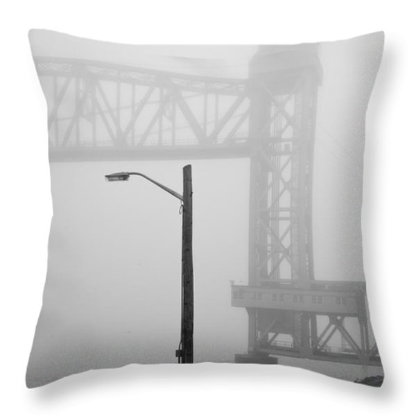 Cape Cod Railroad Bridge No. 3 Throw Pillow by David Gordon