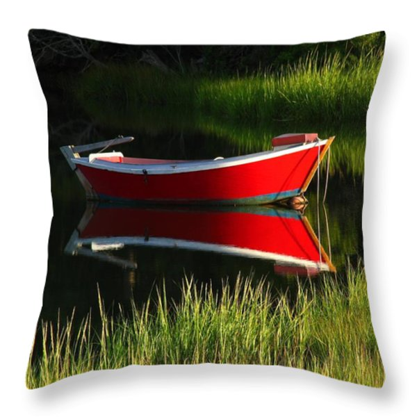 Cape Cod Solitude Throw Pillow by Juergen Roth