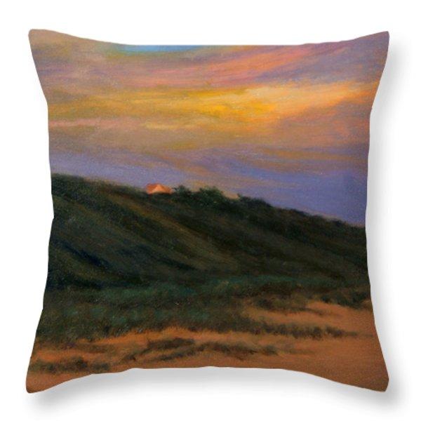 Cape Codtruro Sundown II  Throw Pillow by Phyllis Tarlow
