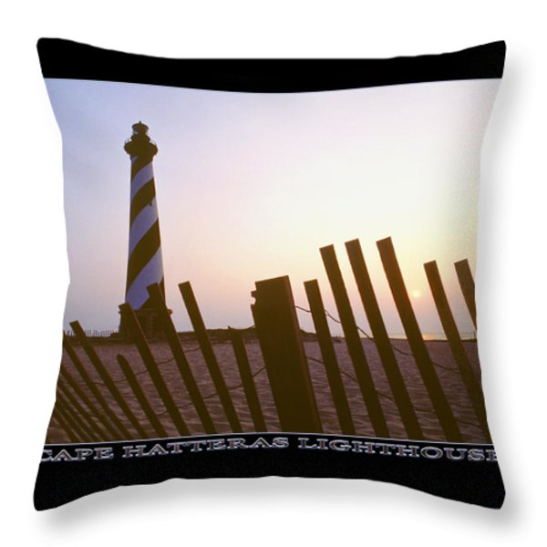 Cape Hatteras Lighthouse Throw Pillow by Mike McGlothlen