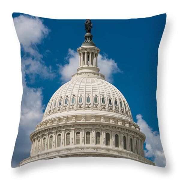 Capital Dome Washington D C Throw Pillow by Steve Gadomski