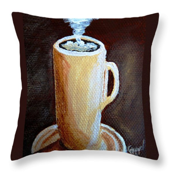 Cappuccino 3 Throw Pillow by Christine Huwer