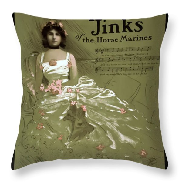 Captain Jinks Throw Pillow by Terry Reynoldson
