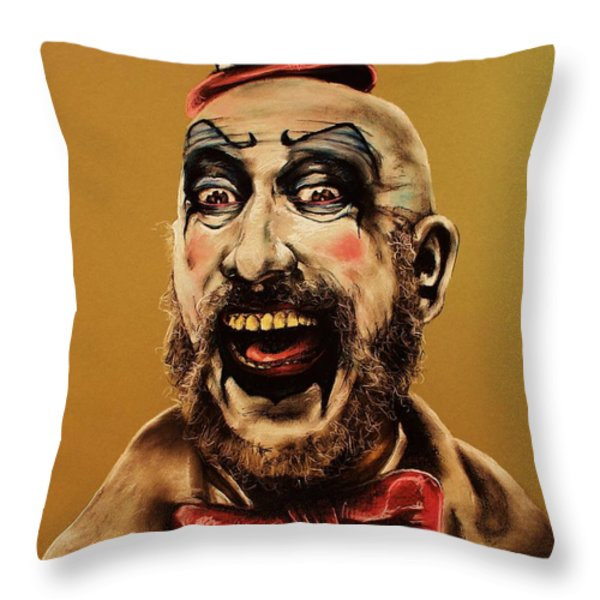 Captain Spalding Throw Pillow by Brent Andrew Doty