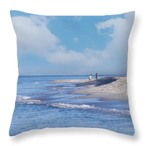 Captiva Island Throw Pillow by Kim Hojnacki