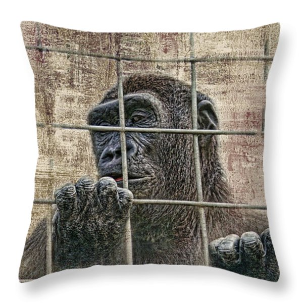 Captivity Throw Pillow by Tom Mc Nemar