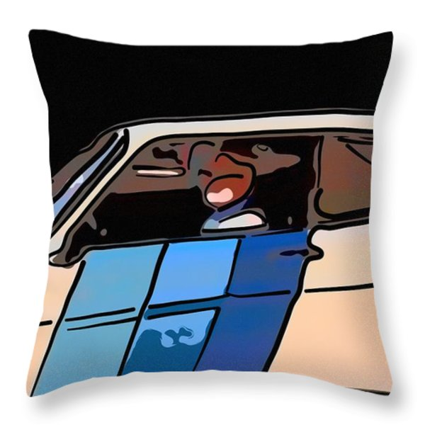 Car Driving By Throw Pillow by Toppart Sweden