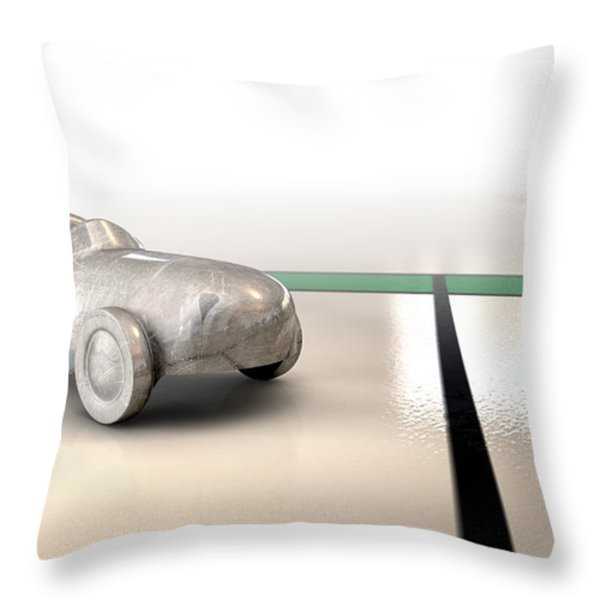 Car Monopoly Throw Pillow by Allan Swart