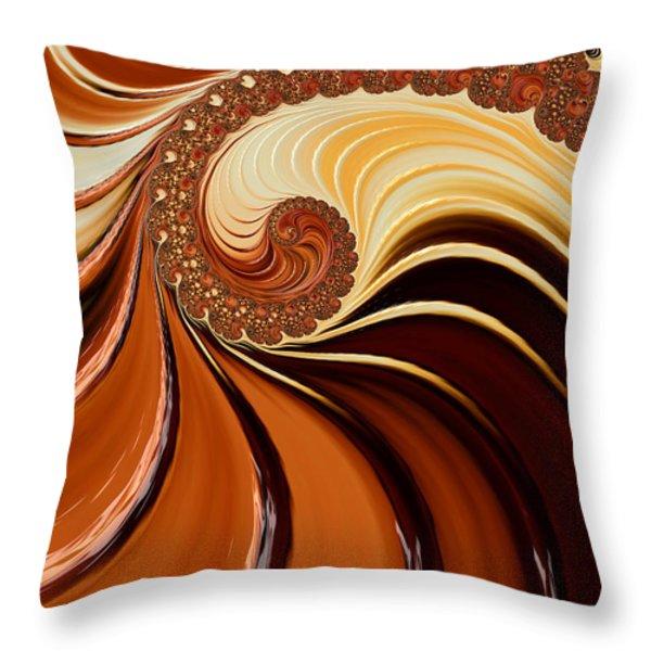 Caramel  Throw Pillow by Heidi Smith