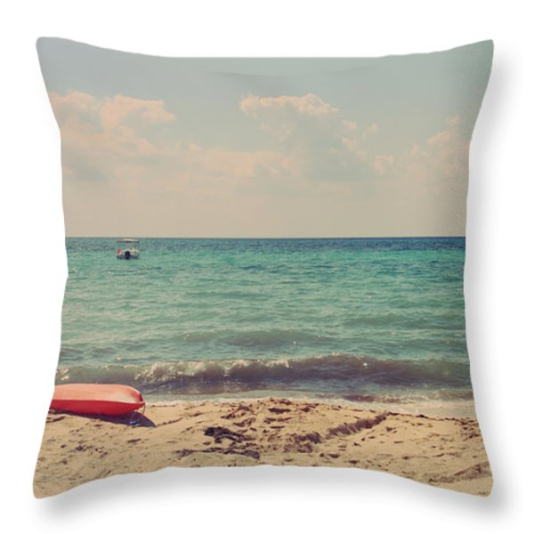 Carefree Throw Pillow by Laurie Search