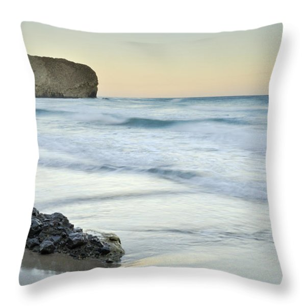 Caresses By The Sea Throw Pillow by Guido Montanes Castillo