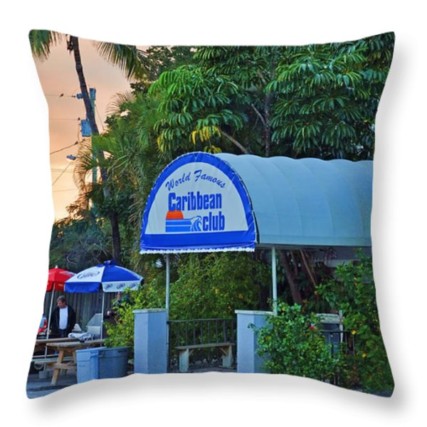 Caribbean Club Key Largo Throw Pillow by Chris Thaxter