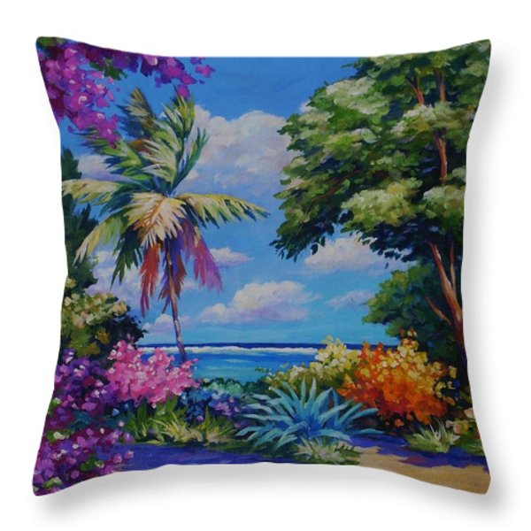 Caribbean Colours Throw Pillow by John Clark