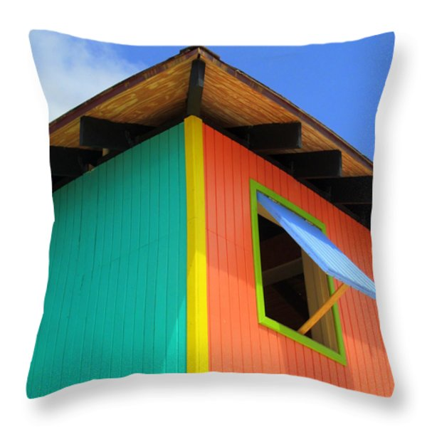 Caribbean Corner 1 Throw Pillow by Randall Weidner