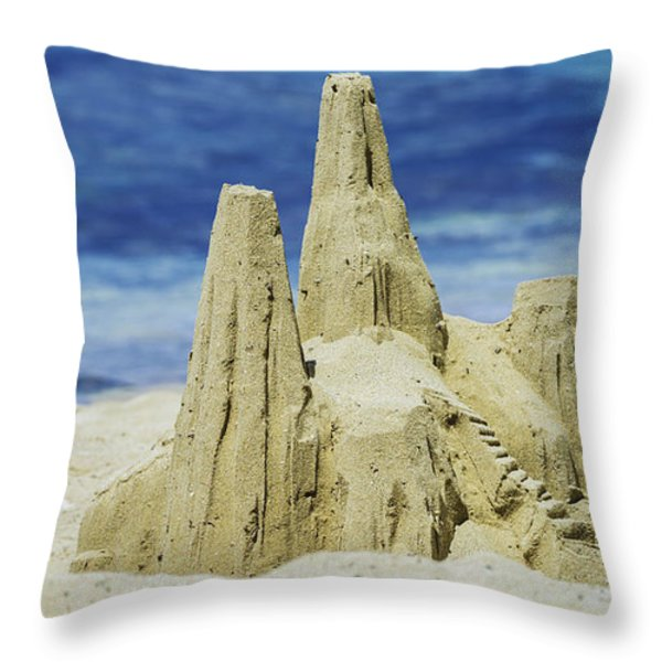 Caribbean Sand Castle  Throw Pillow by Betty LaRue